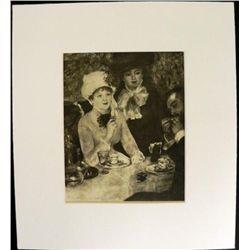 Pierre-Auguste Renoir Engraving Print End of Lunch