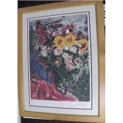 Marc Chagall Les Soucis (Cares) Framed Lithograph S/N