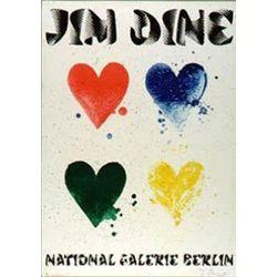 Jim Dine Four Hearts Signed Art Print