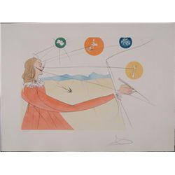 Salvador Dali Signed Art Print Dalinean Prophecy