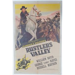 Rustler's Valley Vintage Movie Poster Cassidy Boyd