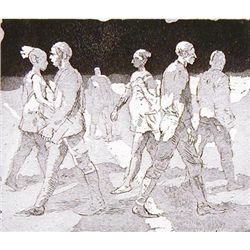 Isabel Bishop YOUNG PEOPLE 1974 Signed LE Etching