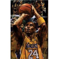 Stephen Holland Signed Kobe Bryant 2010 Art Print
