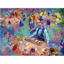 "LeRoy Neiman Signed Art Print ""High Stakes Blackjack"""