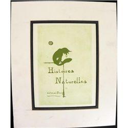 Henri Toulouse Lautrec Engraving Histoires Naturelles