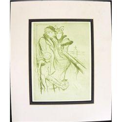Scolding Injury Color Engraving Henri Toulouse Lautrec