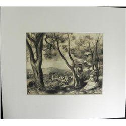 Trip Through the Forest Engraving Pierre-Auguste Renoir