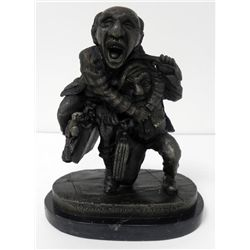Charles Bragg Out of Court Settlement Bronze Sculpture
