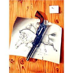 Burley-Viennay LE REVOLVER Western Style Art Print