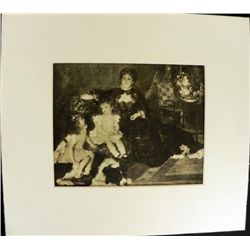 Madam G Charpentier and her Children Engraving Renoir