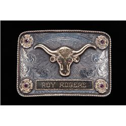 Roy Rogers' Personal Rodeo Trophy Buckle