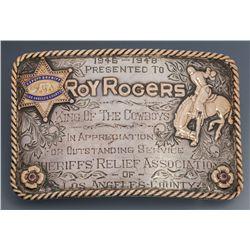 Roy Rogers' Bohlin Presentation Buckle, Los Angeles County Deputy Sheriff