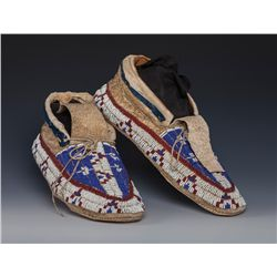 Sioux Men's Beaded Moccasins