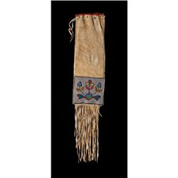 Northern Plains Beaded and Fringed Tobacco Bag