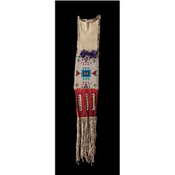 Sioux Beaded and Quilled Tobacco Bag