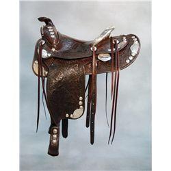 D.E. Walker, Visalia Cal., Silver Show Saddle