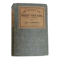 """Important Copy of the Book, """"The Authentic Life of Billy the Kid"""""""