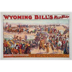 Wyoming Bill's Wild West Lithograph