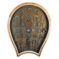 19th Century Blacksmiths' Horseshoe Display Case / Sign