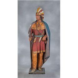 Demuth Tobacconist's Zinc Indian Figure