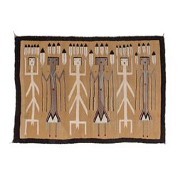 """Two Navajo Rugs 55"""" x 39"""" and 70"""" x 56"""""""