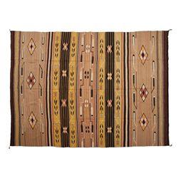 "Navajo Wide Ruins (?) Pictorial Textile 116"" x 90"""