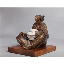 Shirley Thomson-Smith, bronze with Frog Woman pot