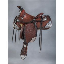 1940s Silver Mounted Show Saddle