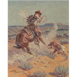 JW Hampton, oil on canvas