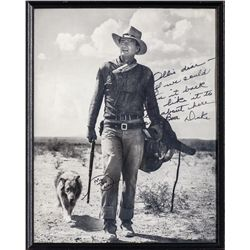 John Wayne Signed and Personalized Photos and Letters from the Carey Family Collection