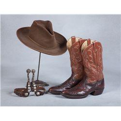 Harry Carey, Jr. Spurs, Hat & Boots