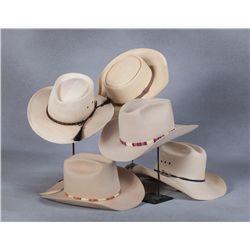 Five Hats Belonging to Harry Carey, Jr.