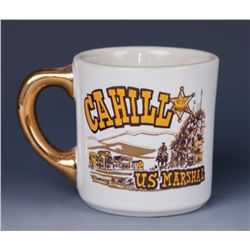 "John Wayne ""Cahill US Marshall"" Coffee Mug Presented to Harry Carey, Jr."