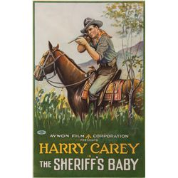 """Harry Carey """"The Sheriff's Baby"""" Poster"""