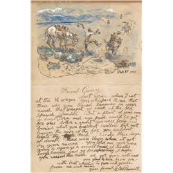 Charlie Russell Illustrated Letter to Harry Carey
