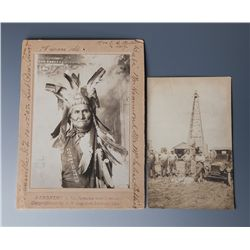 Scarce Autograhed Geronimo Photo by E.W. Logston, Lawton, OK