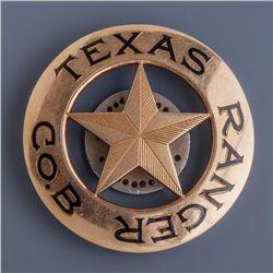 Gold Texas Ranger Badge