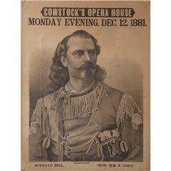 Rare Buffalo Bill Broadside