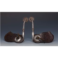 Mike Morales (1888-1934) Inlaid Spurs