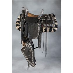 N. Porter Silver and Gold Parade Saddle and Matching Spurs