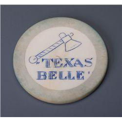 "Very Rare $25 ""Texas Belle"" Poker Chip"