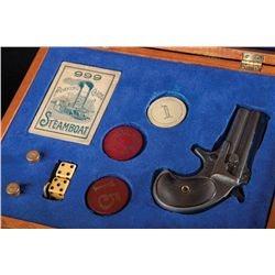"""Two """"Gambler's"""" Deringer Box Sets with Chips, Dice and Cards"""
