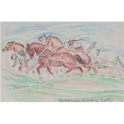 Ila McAfee, pair of watercolors