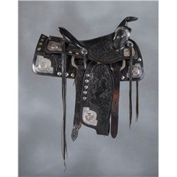 Bona Allen Silver and Gold Mounted Show Saddle