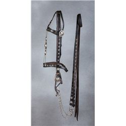 Keyston Bros Silver Mounted Headstall and Martingale