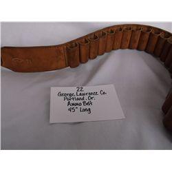 George Lawrence Co. Portland Or. Ammo Belt
