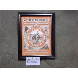 Original 1924 Music Program from the Pendleton Roundup Hall of Fame Museum