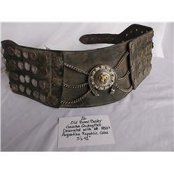 Old Bronc Buster Gaucho Cowboy Belt