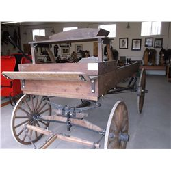 Wooden Wheeled Spring Wagon