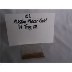1/4 Troy OZ. Alaskan Placer Gold